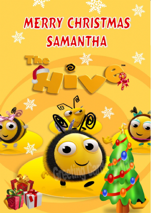 Personalised Buzzbee The Hive Christmas Card